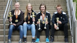 v.l.: Erja Frei, Celina Stattrop, Pia Völker, Leon Hullerum