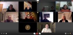 Der Vorstand traf sich zur ersten Vorstandsversammlung digital.